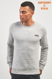 Superdry Grey Orange Label Crew Neck Sweater