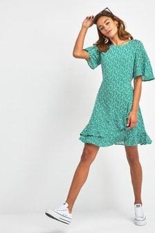f16b847e5b2 Spot Print Frill Dress