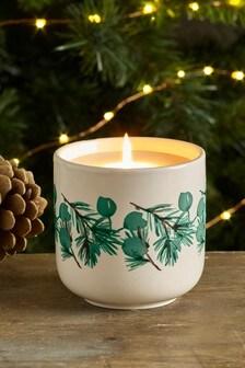 Pine, Cedar & Eucalyptus Ceramic Candle
