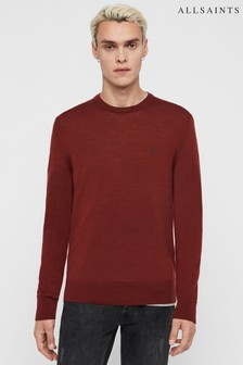AllSaints Red Marl Merino Mode Jumper