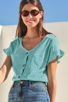 2ff988b60c5 Ladies Green Tops | Womens Green Blouses | Next Official Site