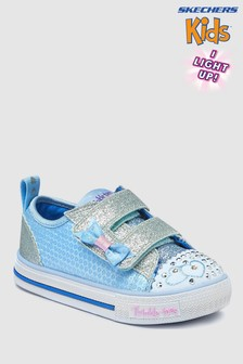 Skechers® Blue Shuffles Itsy Bitsy Lighted Sequin Low Top