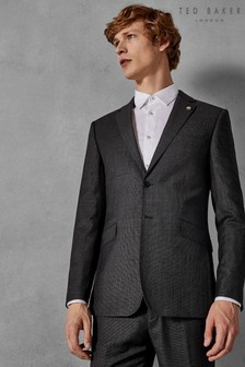 Ted Baker Grey Ursus Sovereign Micro Design Suit Jacket