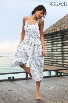 Figleaves Sorrento Spot Strappy Culotte Jumpsuit