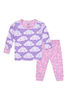 Baby Girls Organic Cotton Purple Pyjamas