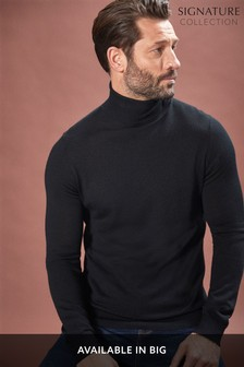 Sweter z welny merynosów, z golfem