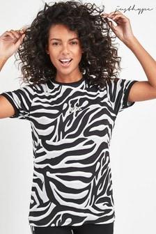 Hype. Zebra Print T-Shirt
