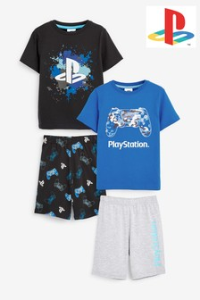2 Pack PlayStation™ Short Pyjamas (3-16yrs)