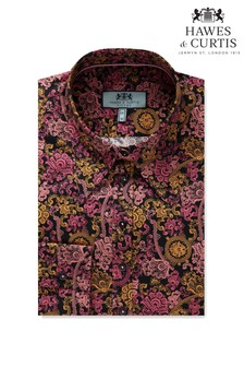 Hawes & Curtis Blue Vintage Paisley Fitted Shirt
