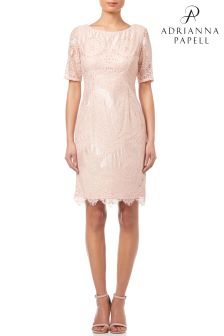 Adrianna Papell Blush Short Lace Dress