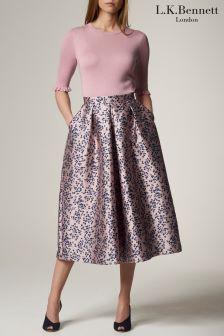 L.K.Bennett Lilis Printed Skirt