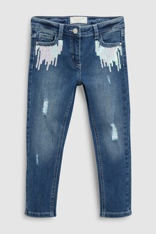 Sequin Pocket Skinny Jeans (3-16yrs)