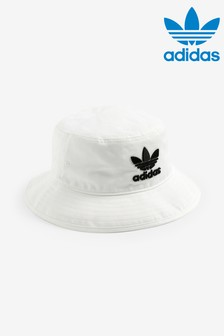 adidas Originals Adults White Bucket Hat