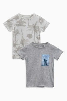 Palm Print Short Sleeve T-Shirt Two Pack (3mths-6yrs)