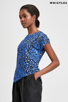 Whistles Brushed Leopard Print Minimal T-Shirt