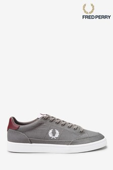Fred Perry Grey Deuce Canvas Trainers
