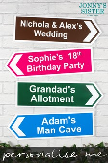 Personalised Large Directional Sign by Jonnys Sister