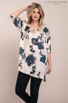 Live Unlimited Cream Spring Floral Tee