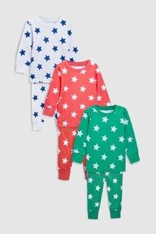 Lot de trois pyjamas confortables motif étoiles (9 mois - 8 ans)