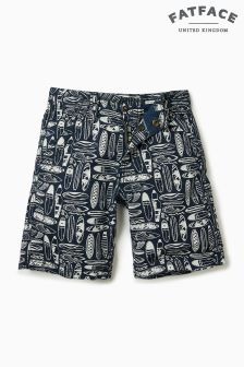 FatFace Navy Surf Board Print Short