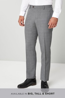 Wool Blend Check Trousers