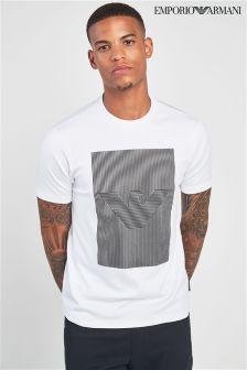 Emporio Armani White Graphic T-Shirt