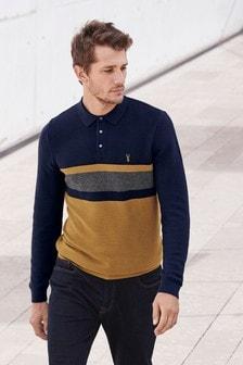 Poloshirt in Blockfarben