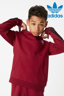 adidas Originals Burgundy Tape Overhead Hoody