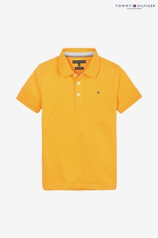 Tommy Hilfiger Boys Yellow Regular Fit Polo
