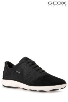 Geox Nebula Black Slip-On Trainer