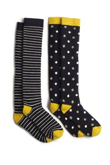 Spot And Stripe Welly Socks Two Pack