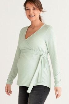 Maternity Cosy Nursing Wrap Top