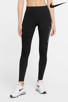 Nike Black Swoosh High Waisted Leggings