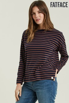FatFace Blue Skylar Stripe Top