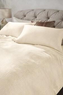 Metallic Stripe Soft Touch Bed Set