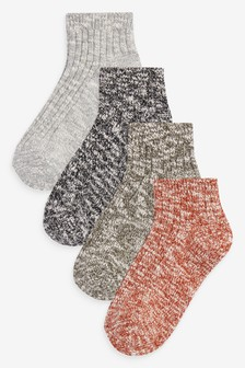 Cropped Ankle Boot Socks Four Pack