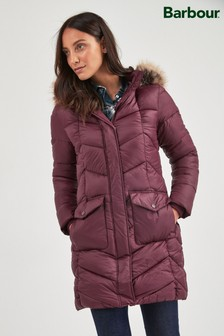 Barbour Coastal Bordeaux Clam Quilt Coat