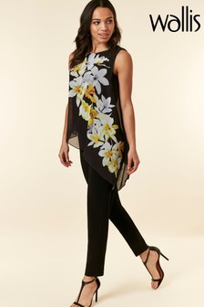 Wallis Black Orchid Overlayer Jumpsuit