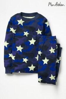 Boden Blue Glow-In-The-Dark Pyjama