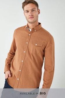 Рубашка из твила с начесом