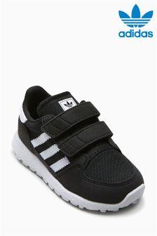 נעלי ספורט עם רצועה נצמדת של adidas Originals דגם Oregon בשחור
