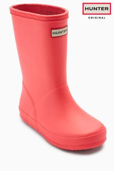 Hunter Pink Kids First Classic Wellington Boot