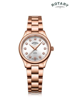 Rotary Ladies Rose Gold Plated Bracelet Watch