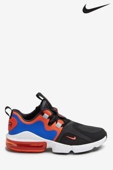 Nike Black/Orange Air Max Infinity Youth Trainers