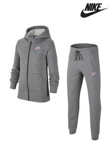 Nike Grey Fleece Tracksuit