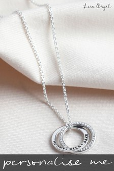 Personalised Interlocking Rings Necklace by Lisa Angel