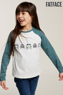 FatFace Natural VW Camper Row Graphic Tee