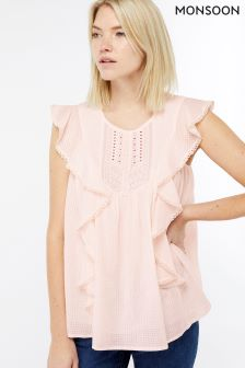 Monsoon Pink Pomona Cotton Top