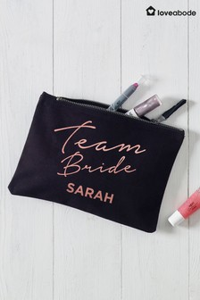 Personalised Team Bride Cosmetic Bag by Loveabode