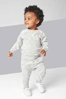 Ensemble jogging et sweat ras du cou motif éclaboussures (3 mois - 7 ans)